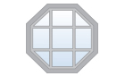 Octagon Specialty Window