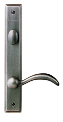 Yuma Hinged Patio Door Hardware - Distressed Nickel