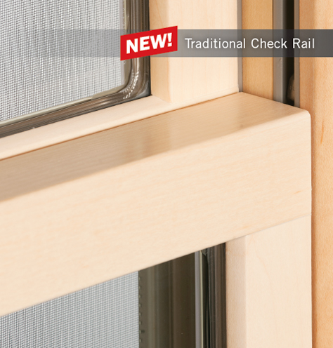 Traditional Double Hung Check Rail