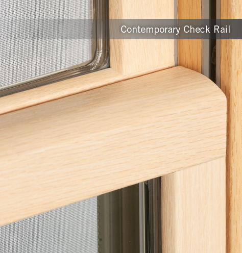 Contemporary Double Hung Check Rail