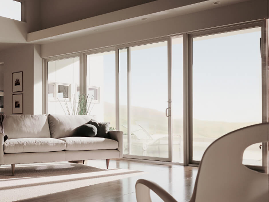contemporary sliding glass patio doors. perma-shield gliding patio doors have a contemporary look \u0026amp; feel, and they maximize glass space. sliding
