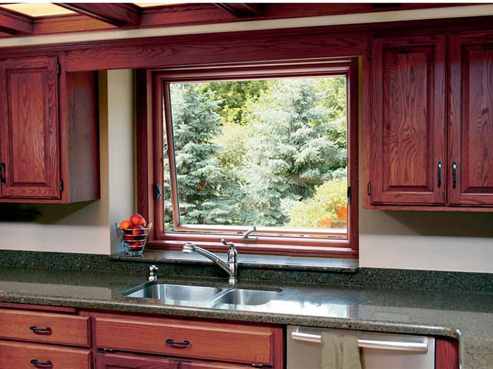 delightful pictures of awning windows #3: Inspiration Gallery. A beautiful oak awning window ...