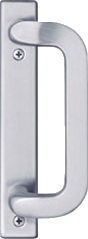 Anvers Satin Nickel Sliding Glass Door Hardware
